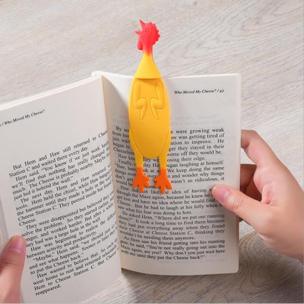 책이랑 꼬끼오 실리콘 책갈피 디자인 북마크
