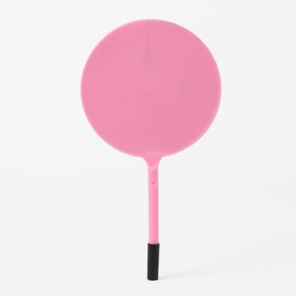 유니콘 부채 볼펜(핑크) 디자인부채 판촉볼펜