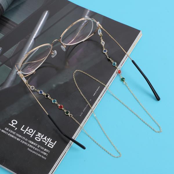 안경줄 아이업 컬러 큐빅 안경줄 패션 체인