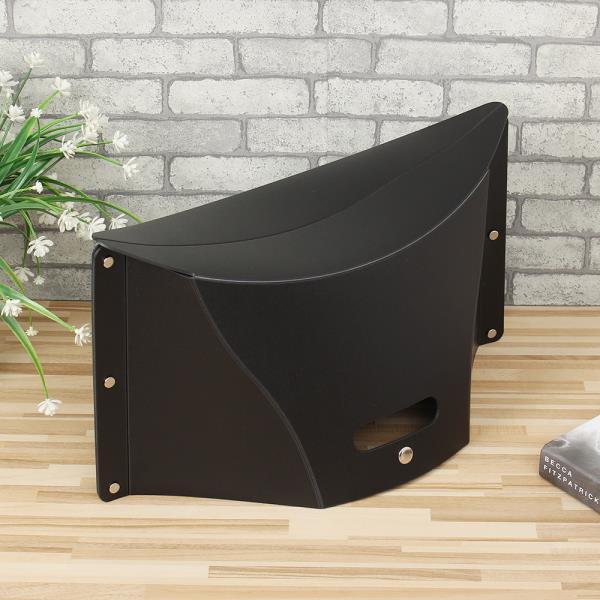 캠핑의자 백스타일 휴대용 각접기 의자 블랙