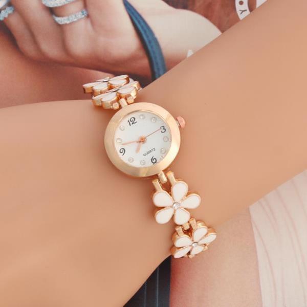 여성손목시계 플라워 메탈 손목 여자손목시계  로맨틱 선물