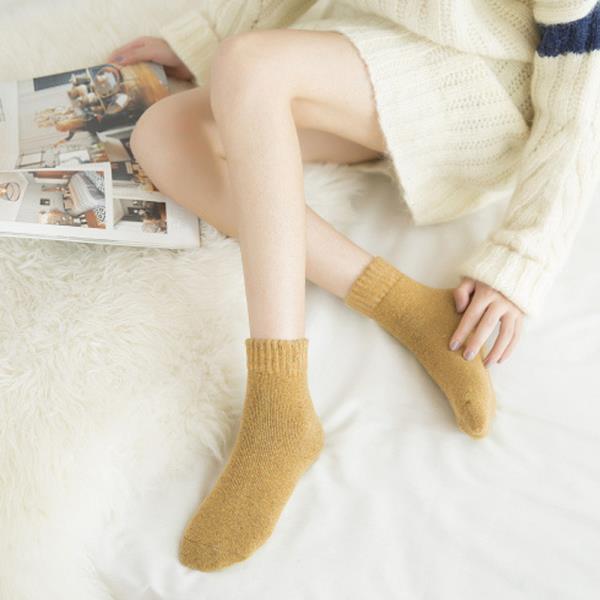 포근한 여성용 중목양말 겨울 니트양말