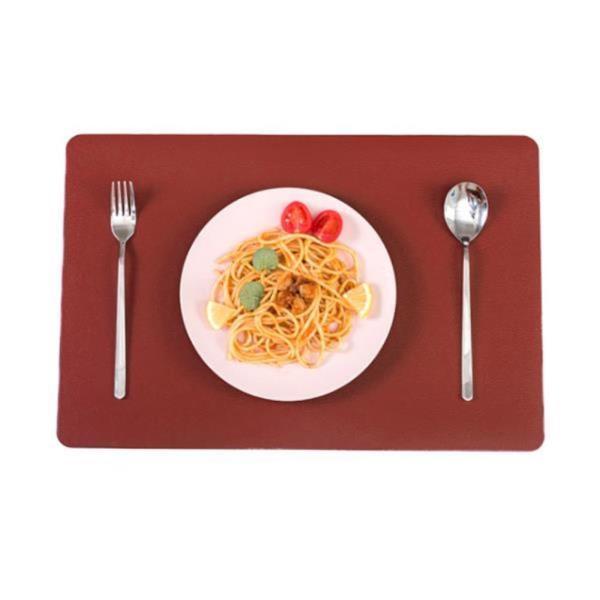 방수식탁매트 더테이블 가죽 식탁매트 방수 사각