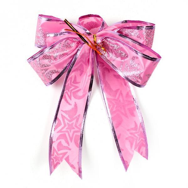 5p 더블 핑크 리본 트리장식 세트(25cm) 트리장식