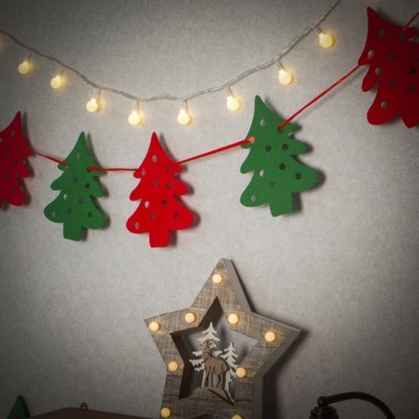 크리스마스 패브릭 가랜드(트리)성탄 트리 벽장식