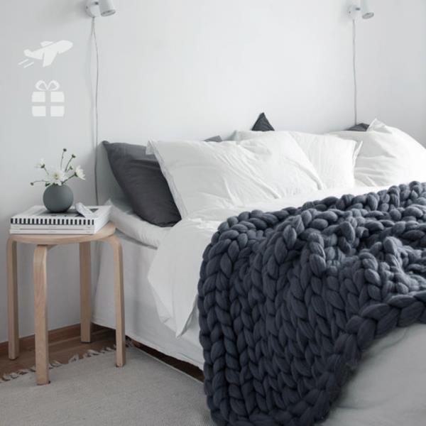 손뜨개 담요 소파 스프레드 낮잠이불 이불대용 따뜻함 블랭킷