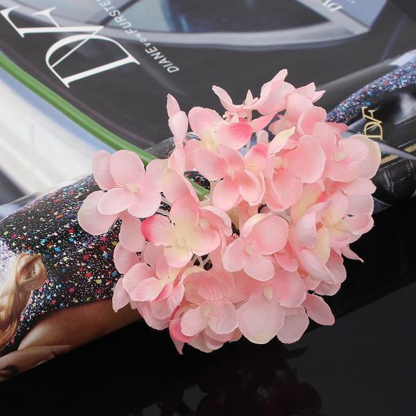 조화꽃 꽃보라 수국 조화 핑크 인테리어