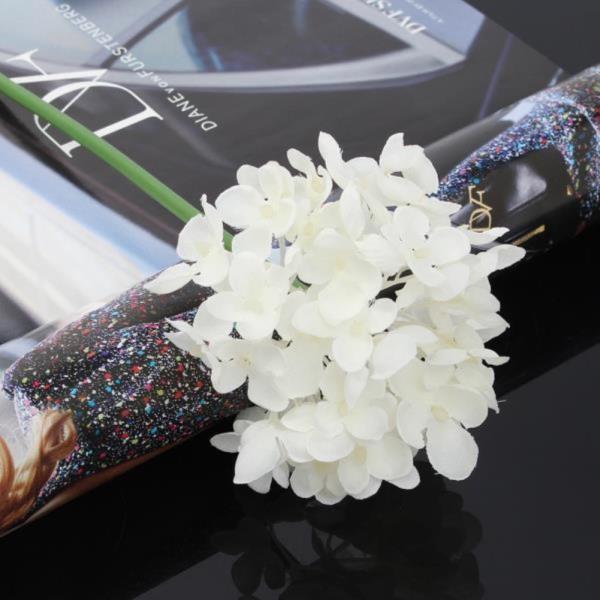 조화꽃 꽃보라 수국 조화 화이트 셀프웨딩