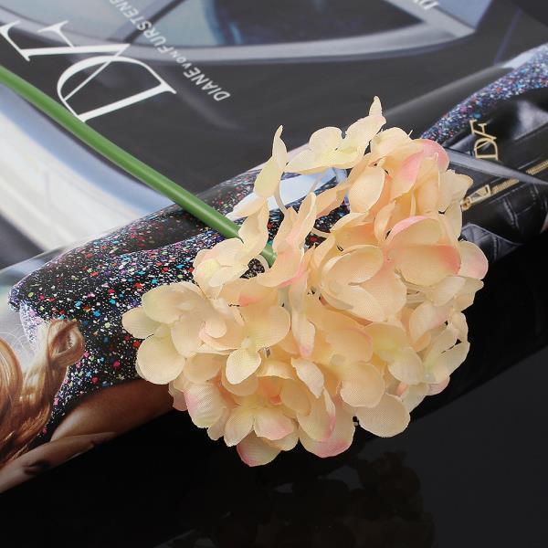 조화꽃 꽃보라 수국 조화 피치 홈데코 꽃꽂이
