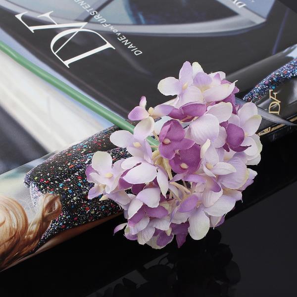 조화꽃 꽃보라 수국 조화 퍼플 인테리어소품