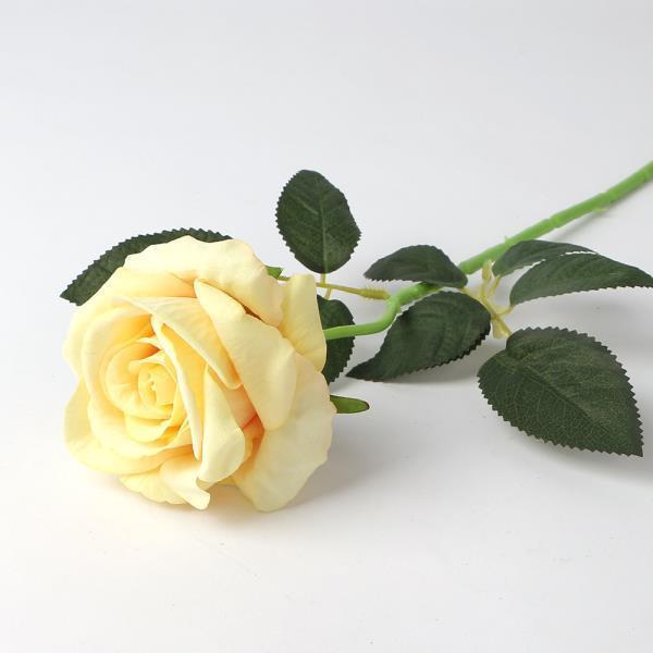 조화꽃 로즈가든 벨벳 장미 조화 옐로우