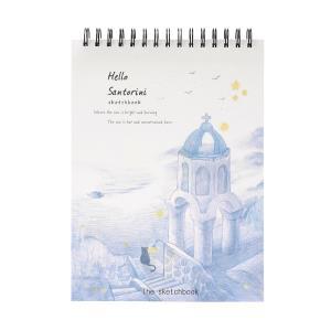 산토리니의 매력 드로잉북 4P세트 스케치 캘리노트