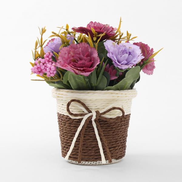 프리티플 카네이션 조화 화분(퍼플) 어버이날 인조꽃