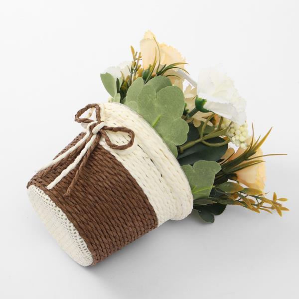 프리티플 카네이션 조화 화분(옐로우) 꽃 소품장식