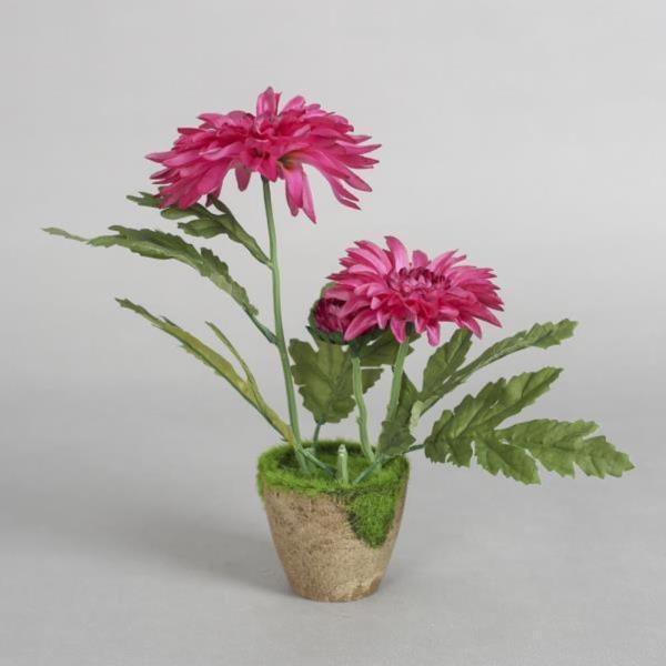 작은정원 국화 조화 화분(핑크)조화꽃 인테리어 화분