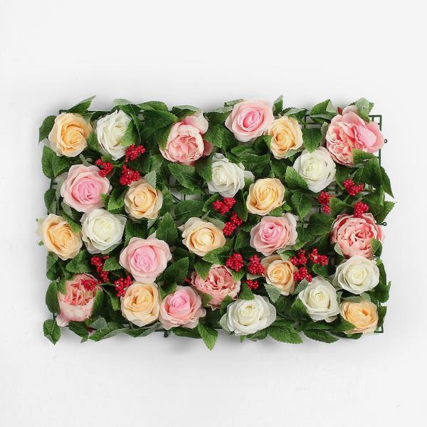 월데코 조화 꽃벽 FL09 플라워월 포토존 조화벽장식