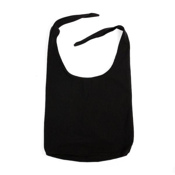 패션 내담쇼핑몰 숄더백 샐리 리본 에코백(블랙) 데일리 매듭 캔버스백