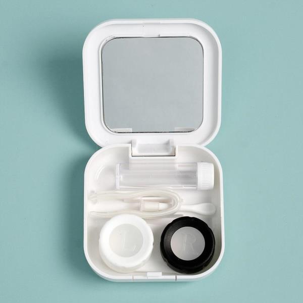 스퀘어 거울 렌즈케이스 5p세트 흡입봉 보존액용기