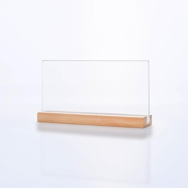 우드 스탠드 아크릴 쇼케이스(20x10cm) POP꽂이