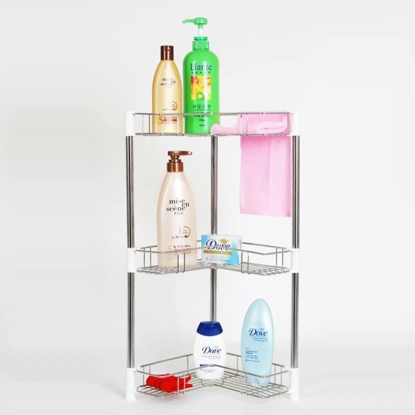 화장실 샴푸렉 정리진열선반 3단