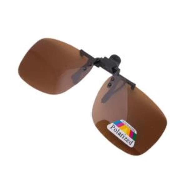 편광클립 중형 선글라스 편광렌즈 브라운
