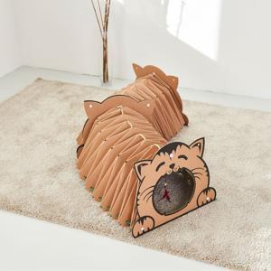 고양이 터널 쉼터 2개x1 흥미유발하는 골판지 캣 놀이터 텐트