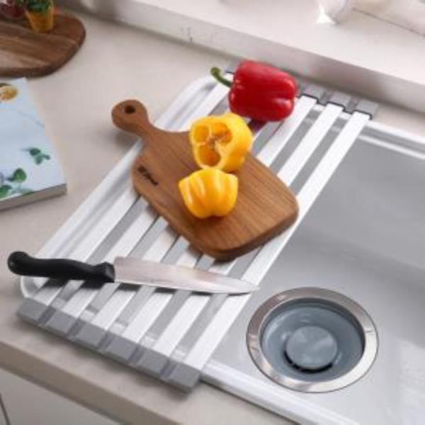 알루미늄바 접이식 씽크대 그릇건조선반