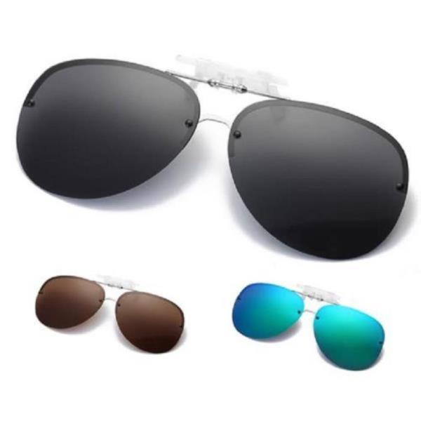 남자 여자 안경 위에 쓰는 클립 둥근테 편광 선글라스