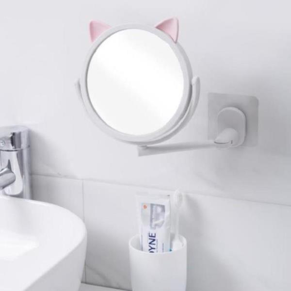 이동식 각도조절 욕실 면도경 화장대 메이크업 확대경 거울