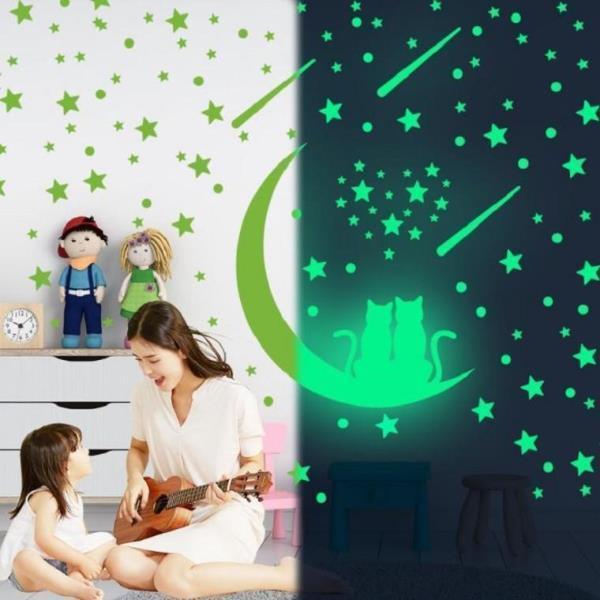 포인트 핵사곤 집꾸미기 인테리어 야광 천장 데코 꾸미기 유아방 창문 벽 스티커 셀프인테리어 감성