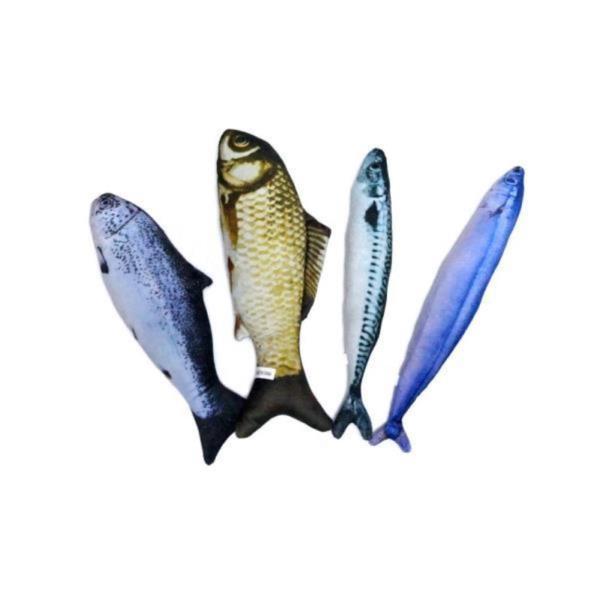 우쭈쭈 캣닢 물고기 30cm (연어)