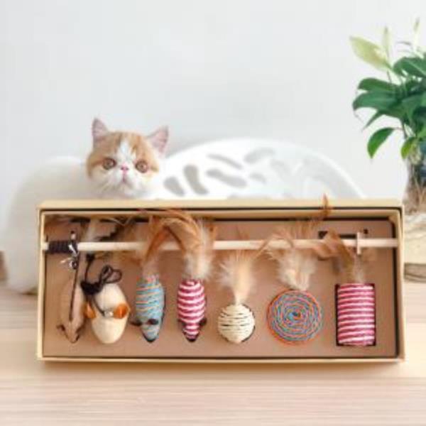 고양이 낚시 장난감 7종 세트