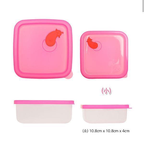 실리콘 정사각용기[가지_소] 2개 주방용품