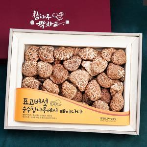 경성표고버섯 프리미엄 흑화고 450g/참나무원목표고버섯