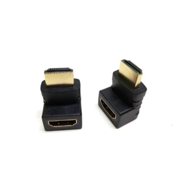 HDMI (M) - HDMI (F) ㄱ자 꺾임형 연장젠더