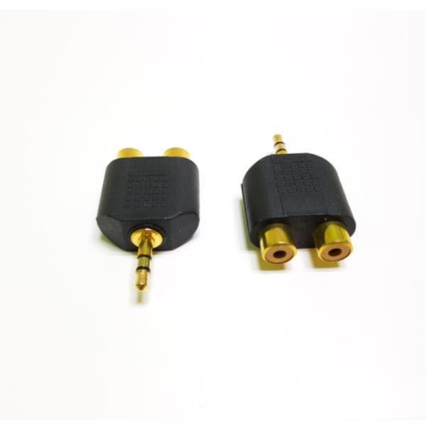 3.5 스테레오 (M) - 2RCA (F/F) Y자 오디오 변환젠더