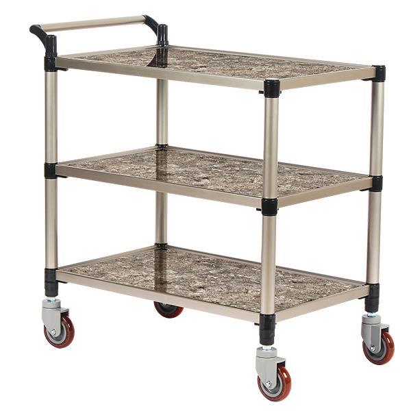태희산업/프리미엄 마블 조립형A 3단 대형 서빙카트
