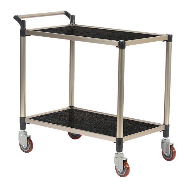 태희산업/프리미엄 오크 조립형A 2단 중형 서빙카트