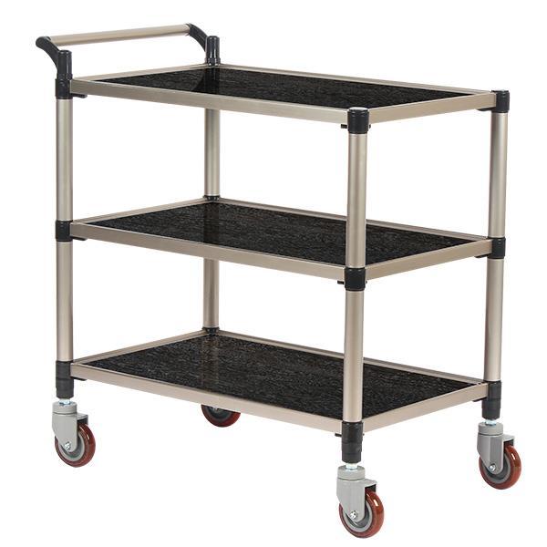 태희산업/프리미엄 오크 조립형A 3단 특대형 서빙카트