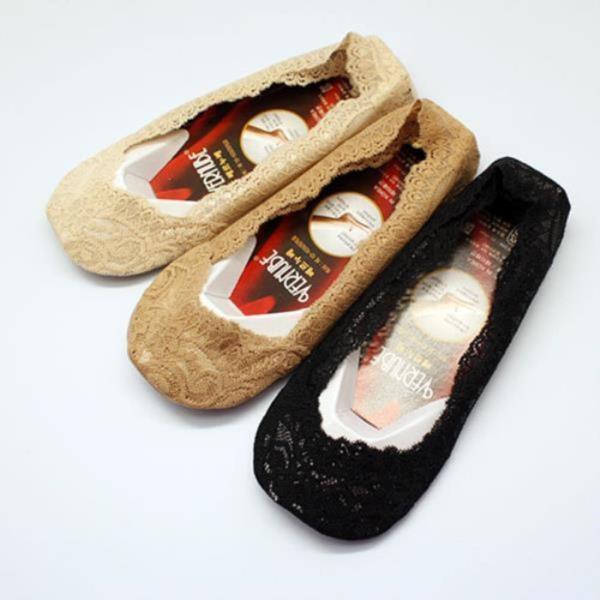 여성덧신 안벗겨지는 발목 양말 구두 미끄럼방지 올레이스 베르누베 전체레이스덧신 5족세트