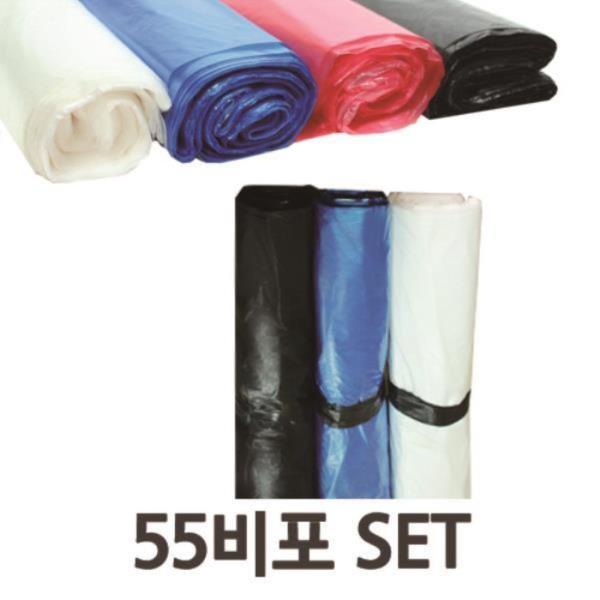 재활용쓰레기봉투 다용도 비포봉투 야채봉투 55x73 100매x2개 SET