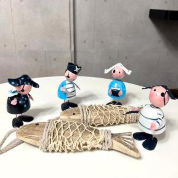 장식인형 남녀노소 귀여운 해적 소품 장식세트 인테리어 북유럽 4인의해적 포인트 실내장식