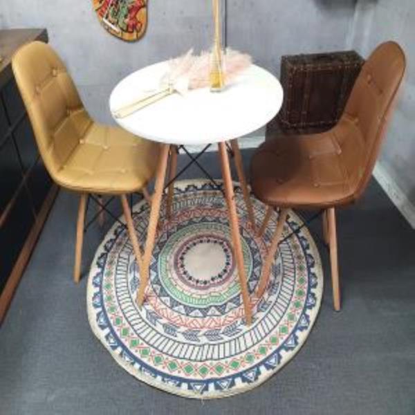 원형러그 포근한 거실 사계절 침실 물세탁 심플 방바닥매트 패드 빈티지한 패턴 인테리어 북유럽풍 카페트