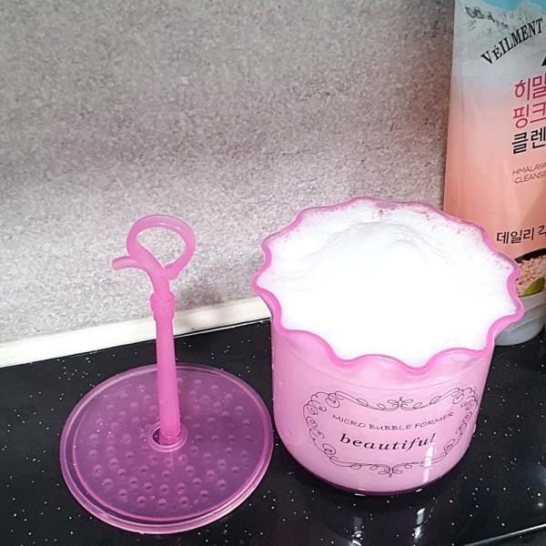 클렌징 버블 거품메이커 핑크