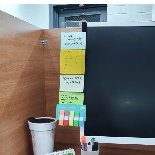모니터 메모보드 명함홀더 좌측용