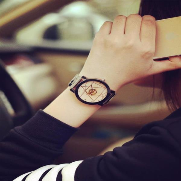 손목시계 내담쇼핑몰 아날로그 빈티지 패션 수험생 학생 메탈 가죽 수능 커플 1플러스1 LINGGE Brown 아날로그 손목시계 MW01 워치