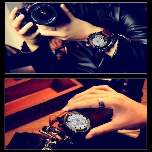 패션아이템 남자시계 선물 메탈밴드 수험생 YAZOLE Dial 남성 아날로그 손목시계 Watch 334 워치