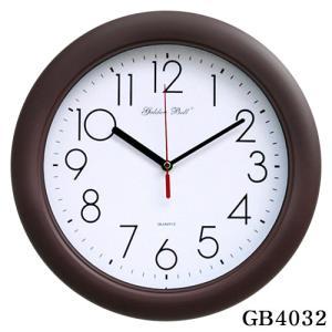 GB4032 고급 무소음 밤색 벽시계 320파이 제조한국