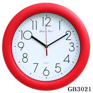 GB3021 고급 무소음 레드 벽시계 32cm 제조한국