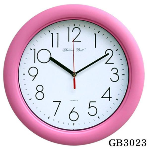 GB3023 고급 무소음 핑크 벽시계 32cm 제조한국